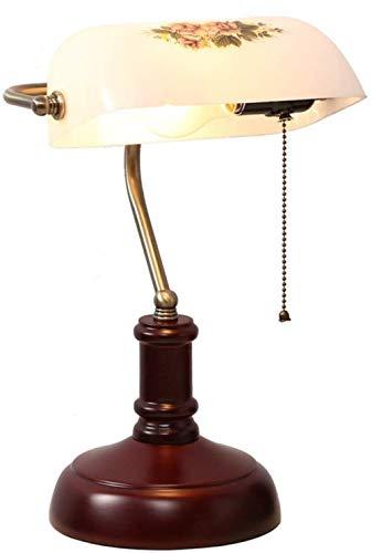 E27 Vitral Lampara de Mesa Vendimia Diseño Lamparas Mesa de Noche Decoración Lluminación Interior [Clase de eficiencia energética A+++] -Blanc