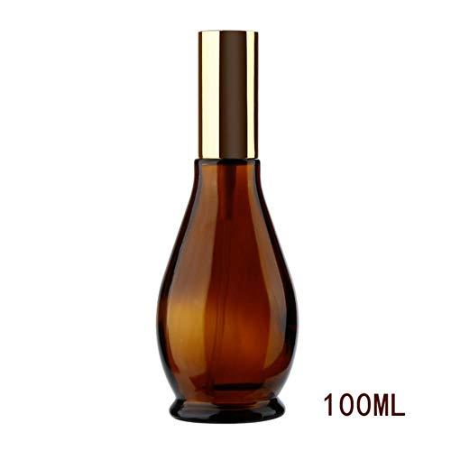 LASISZ Bouteille Rechargeable en Verre ambré 4 Tailles en Forme de calebasse récipient pulvérisateur de Parfum Voyage Maquillage atomiseur Outil cosmétique, 100 ML