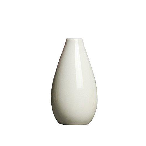 Springdoit Maceta de cerámica pequeña y Lisa florero, Moderno arreglo de Flores Minimalista Creativo pequeña decoración de la Boda casa de la Flor (Blanco)