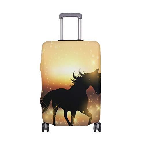 ALINLO - Copertura per bagagli a forma di unicorno con cavallo al tramonto