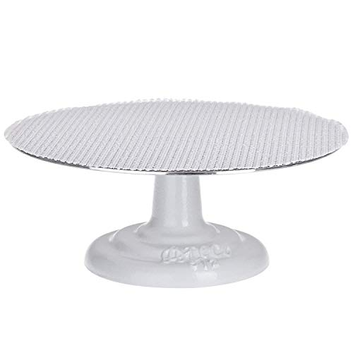 Ateco Revolving Cake Decorating Stand, Aluminum Turntable and Cast Iron Base with Non-Slip Pad, 12-Inch