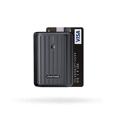 Charmast Mini Bateria Externa 10000mAh para Movil Powerbank USB C 18W PD & QC 3.0 Quick Charge Cargador Portátil Ultra Compacto Carga Rápida para iPhone Samsung Huawei Xiaomi Tablets