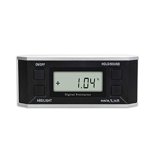 GDS Digital Display Neigungssensor, elektronische Goniometer Winkelmesser Ebene, Multifunktions 360 ° Messwaage mit Magnetwinkelmessgerät