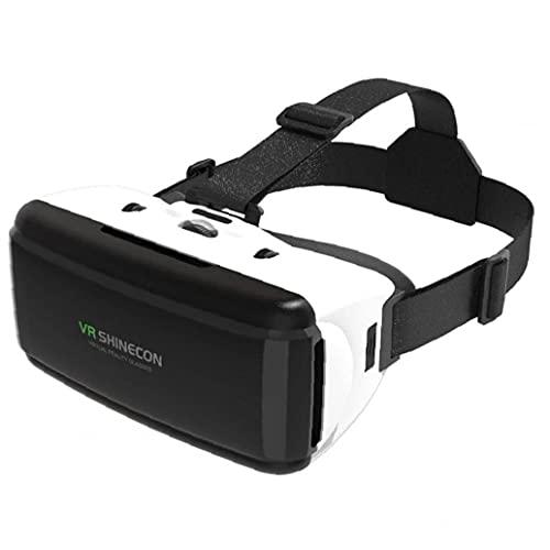 FeelMeet VR 3D Gafas de Realidad Virtual de Auriculares estéreo Casco Gafas de Películas Multi usos Juegos Smartphones Bluetooth Rocker Blanca