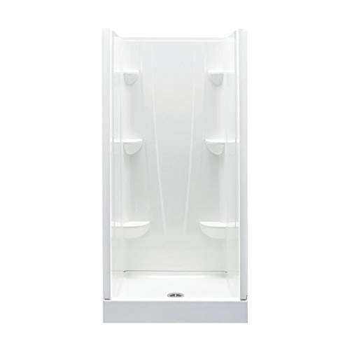 Product Image of the A2 3636CS-BI Composite 4-Piece Shower Kit, 36-in L x 36-in W x 76-in H, Biscuit