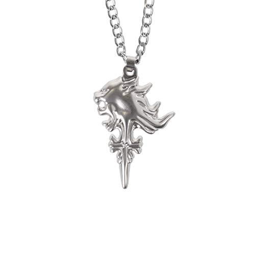 CoolChange Final Fantasy VIII Halskette mit Sleeping Lion Heart Anhänger von Squall Leonhart I FF8 Kette I Metall