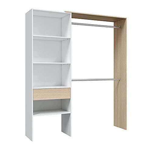 HABITMOBEL Vestidor 1 Cajon estantes regulabes Altura Ropero Infantil 158 cm (Ancho) x 187 cm (Alto) x 40 cm - Stock