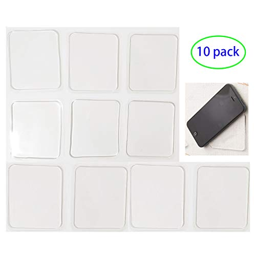 LIEN Super Sticky Gripping Pads Clear, Removable and Washable Non-Slip Mats Transparent Anti-Slip Gel Pads Auto Gel Holders for Car,Home,Cell Phone Accessories
