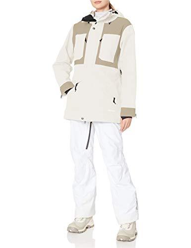 AIRBLASTER Damen Storm-Umhang leicht isoliert Oberbekleidung Jacke, Damen, Snowboard-Jacken, Lady Storm Cloak Lightly Insulated Outerwear Jacket, Ziegenknochen, Medium