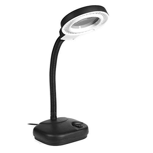 40 LED Lámparas de Mesa de Escritorio de Escritorio Flexible Lámpara de Aumento de 5X-10X Lupa