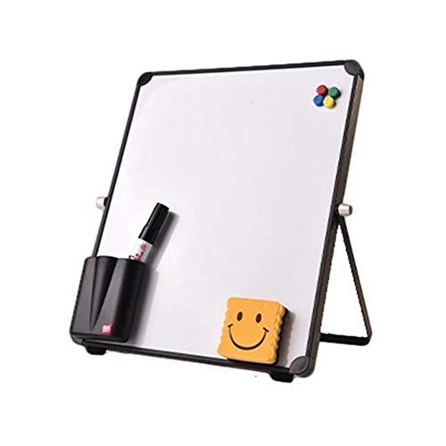 HNXYZXHYC 25 * 25 cm Mini borrado en seco y Consejos de Pizarra magnética Reutilizable portátil de Escritorio Permanente Caballete Tablero de Escritura (Color : Option 1)