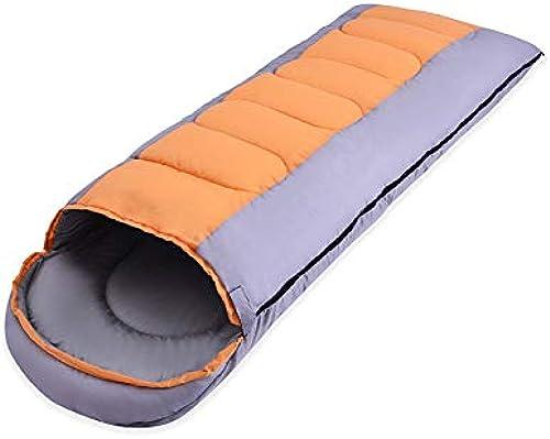 sin mínimo Mhwlai Saco Saco Saco de Dormir Doble Exterior para Adultos Cuatro Estaciones de Viaje Camping Bolsa de Dormir Almuerzo Pausa de Viaje Viaje de Camping Bolsa de Dormir de Momia Bolsa de Dormir,naranja  ahorra hasta un 70%