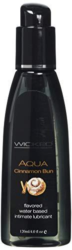 Wicked Lubes Sensual Care Aqua Lubricant, Cinnamon Bun, 4 Fluid Ounce