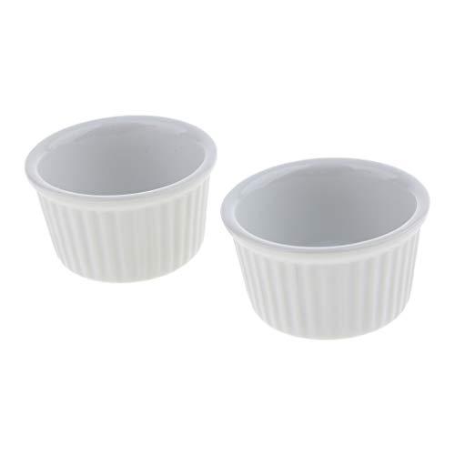non-brand 2 Pezzi Ceramica Ciotola per Cibo O Acqua Anti-Fuga per Rettilari Tartaruga Geco Lucertola - Uno Stile