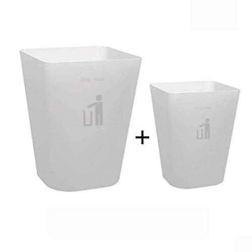 Surviving Zimmer originative Küche Schlafzimmer Badezimmer Klassifizierung Toilette Büro Große Trash Can, Haushalt Trash Can Bento Lunch Box for Kinder (Farbe: weiß) 1yess (Color : White)