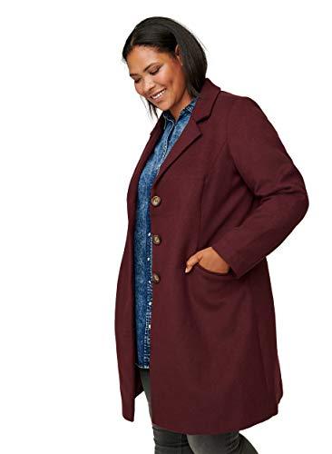 Zizzi Damen Große Größen Mantel mit Taschen und Knöpfen Gr 42-56