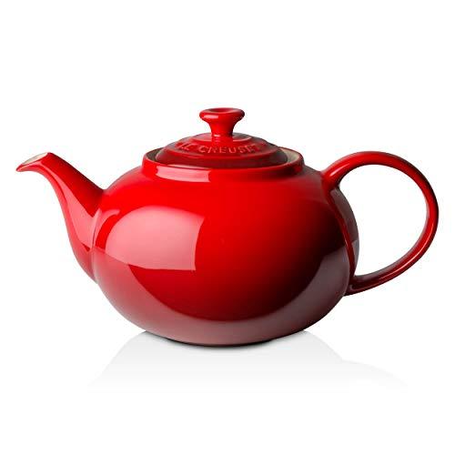 Le Creuset Klassische Teekanne, Rund, 1,3 Liter, Steinzeug, Kirschrot