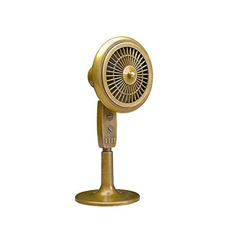 VanFty Adornos creativos Ventilador eléctrico Antiguo Incienso de Incienso Estufa de Cobre de Cobre Puro Colección de Pantalla de Escritorio Ornamental artesanía Retro para el hogar Aromaterap