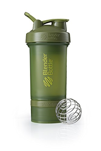 BlenderBottle ProStak Full Color Botella de Agua y Accesorios, Unisex Adulto, Musgo verde, 650 ml