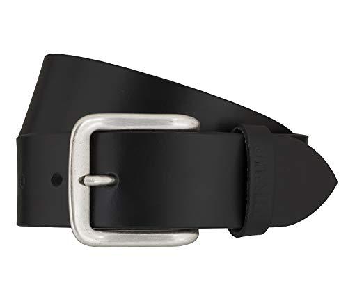 Mustang Herren Leder Gürtel Ledergürtel Herrengürtel 40 mm schwarz kürzbar Vintage (110 cm)