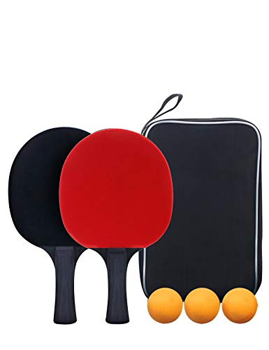 Why Should You Buy newrong with 2 Rackets and 3 Balls Training Professional ping-Pong Racket Set Non...