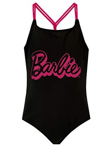 Barbie Bañador para Niñas Negro 7-8 Años