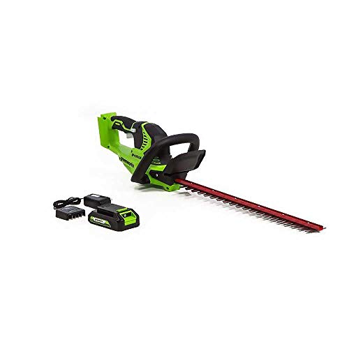 "Buy Discount GreenWorks Commercial 24H20 24V 22"" Cordless Lightweight Hedge Trimmer Kit"