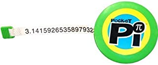 Pocket Pi Retractable Novelty Tape Measure – 400+ Digits of Pi, for Math Lovers, Arithmetic Students, Mathletics, by NumbersAlive!