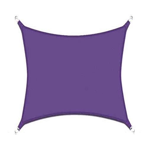 Velas de Sombra Rectángulo Sun Sail Shade for Patio Prueba de Agua Anti-desgarro de Tela UV Bloque Dosel Patio Toldos Parasol Tela Refugio 0726 (Color : Purple, Size : 2X5M (6.5X16.5FT))