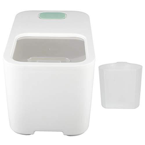 Cubo de arroz, práctica caja de almacenamiento de arroz, a prueba de polvo, comida para mascotas para cereales integrales, arroz en casa