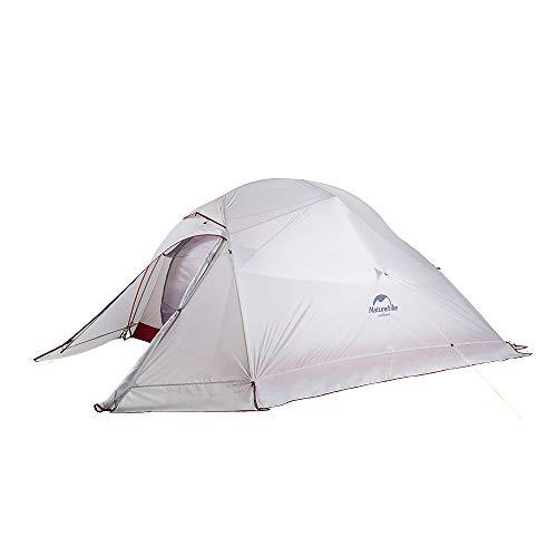 Naturehike Cloud-up Ultraligero Tienda 3 Persona Tienda de Campaña Impermeable Doble Capa Camping Tienda de Campaña (Gris con Falda 20D)