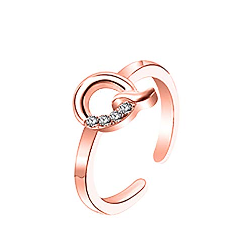 Janly Clearance Sale Anillos para mujer, anillo de letras 26 letras inglesas, diseño de combinación de diamantes, regalo de pareja, conjuntos de joyas, día de San Valentín (Q)