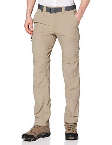 Columbia Silver Ridge II Pantalones de Senderismo Convertibles, Hombre, Beige (Tusk), W34/L32