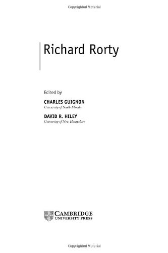 Richard Rorty (Contemporary Philosophy in Focus) (English Edition)