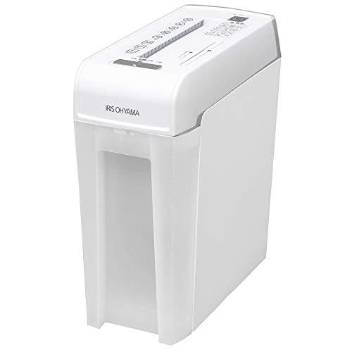 アイリスオーヤマ 細密シュレッダー 家庭用 マイクロクロスカット 細断枚数6枚 連続使用5分 静音 CD/DVD/カード対応 ダストボックス10.8L P6HMCS ホワイト