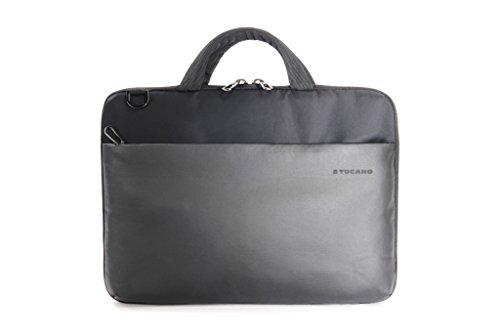 Tucano BDA-MB1213 Dark Slim Tasche für MacBook 12/13 Zoll, Air/Pro/Retina, Apple iPad Pro 12,9 Zoll schwarz