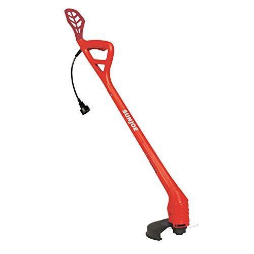 Lowest Prices! Sun Joe TRJ607E-RED 10-Inch 2.5 Amp Electric String Trimmer, Red