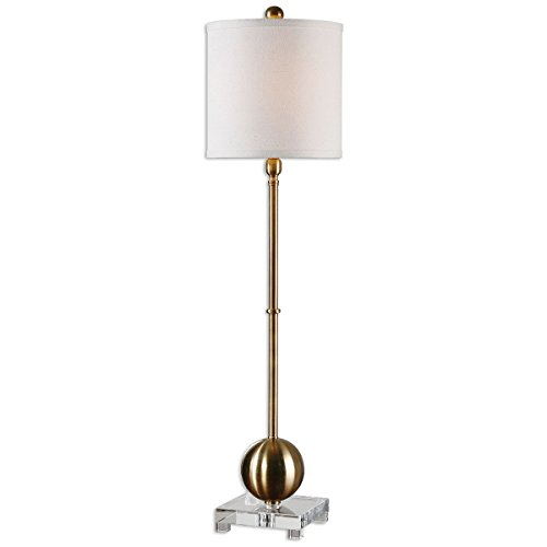 Uttermost 29935-1 Laton Buffet Lamp, Brass