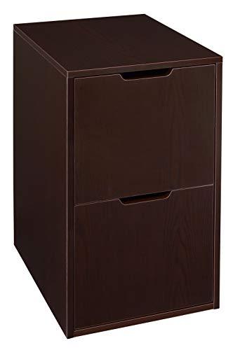 Niche Mod Freestanding Pedestal Two Drawer Filing Cabinet, Truffle
