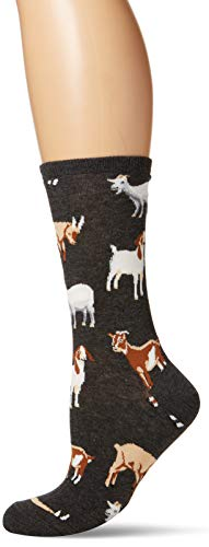 Socksmith Womens Novelty Crew Socks 'Silly Billy' - Charcoal Heather, Sock size 9-11
