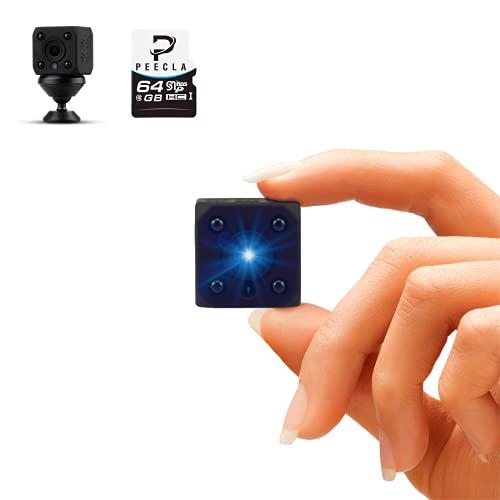 Peecla Telecamera Nascosta Wifi Interno Con Micro Sd 64 Inclusa Mini Videocamera Sorveglianza Hd Batteria Senza Fili Per Atti Vandalici Spy Cam Micro Registratore Vocale Spia Microcamera Auto Scheda
