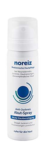 noreiz Anti-Juckreiz Akut-Spray (50ml) · schnelle Hilfe bei Hautreizungen, juckender Haut, Neurodermitis und gegen Juckreiz · mit Thiocyanat · MADE IN GERMANY