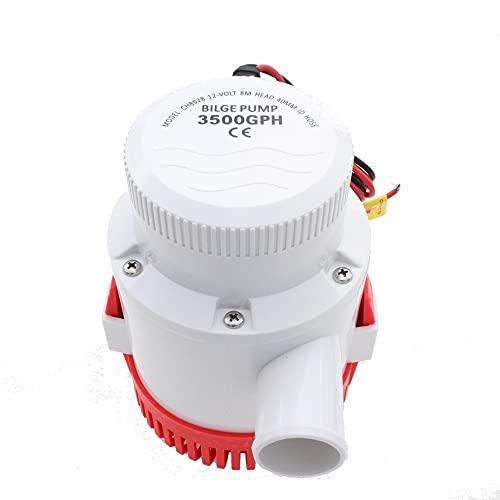 HCHL Bomba de achique Sumergible automática para Barcos Bomba de Agua eléctrica de 1200/2000/3000 / 3500GPH eléctricos para el Barco, Bomba de Silbato Marino Marina del Impulsor Marino