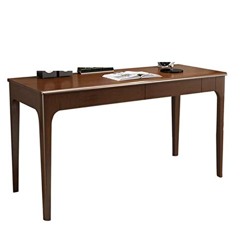 Escritorio doble de madera maciza, Escritorio del estudiante del escritorio del ordenador de escritorio del hogar del dormitorio con los cajones, Fácil instalación, adecuada para el hogar