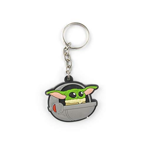 Chaveiro Geek Emborrachado Baby Yoda Pod - Presente Criativo