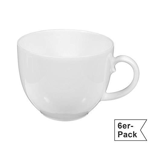 Seltmann Weiden Rondo Weiss Uni Kaffeetasse / Kaffee-Obertasse 0,21 L