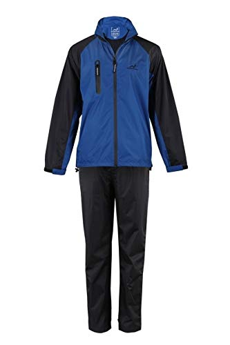 Woodworm Golf V2 Mens Waterproof Rainsuit Blue Medium