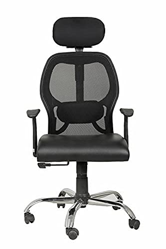 Casa Copenhagen, BB Collection Ergonomic Extra Soft Desk Chair High Engineered Frame Durable and Adjustable Office Chair Modern Executive Chair with Armrests Lumbar Support - Black 08