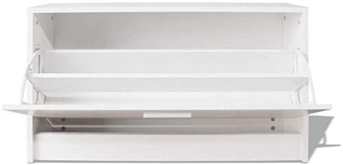 YLCJ opbergbank voor schoenen, meubels, schuifdeuren van hout met schuiflade – 80 x 24 x 45 cm (kleur: eiken)