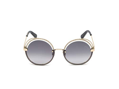 Roberto Cavalli RC1101 - Gafas de sol para mujer 32B, color dorado y negro, 60 mm, 1101